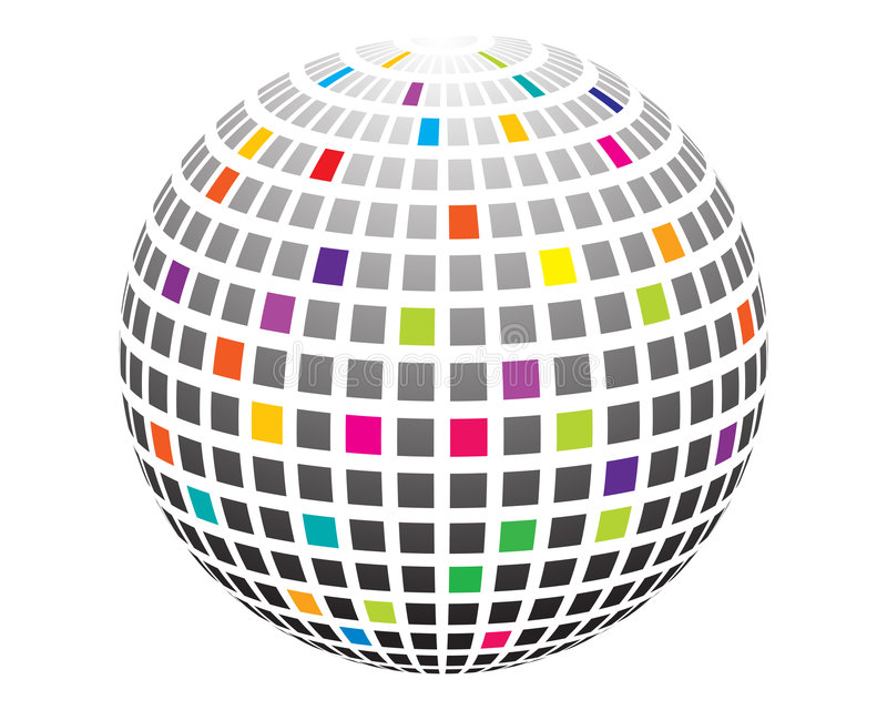 Bola del disco stock de ilustración