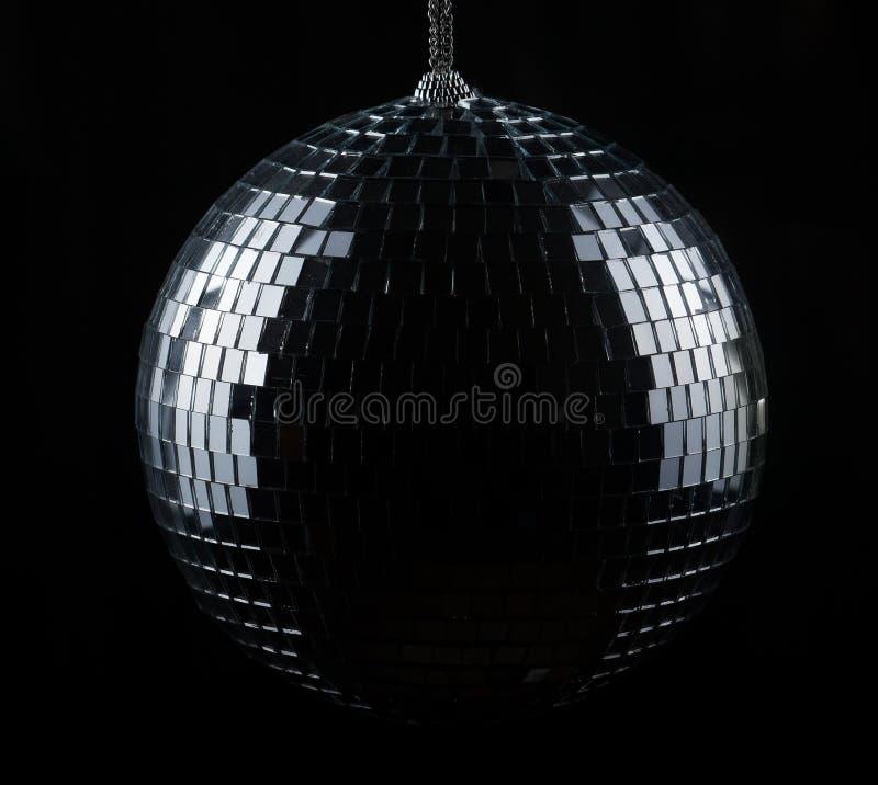 Bola del disco en negro fotos de archivo