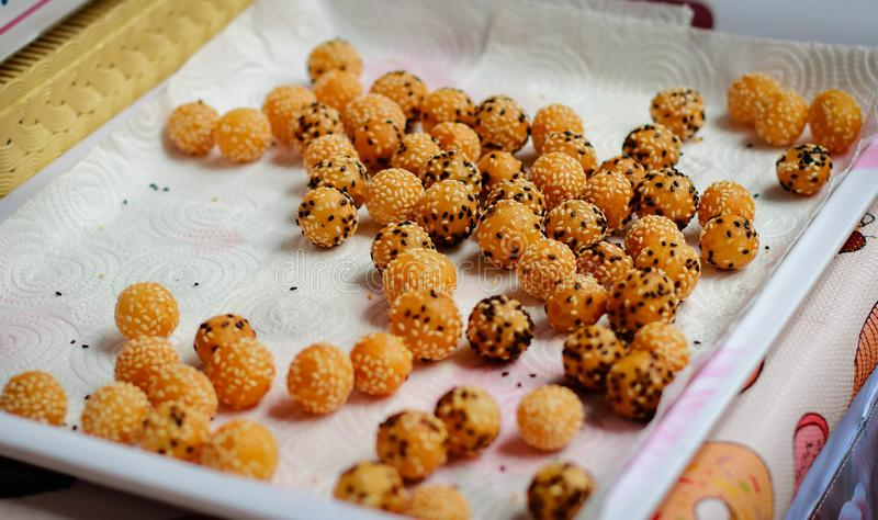 Bola del dulce de Potata imagen de archivo libre de regalías