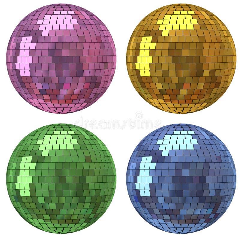 Bola del espejo del disco ilustración del vector
