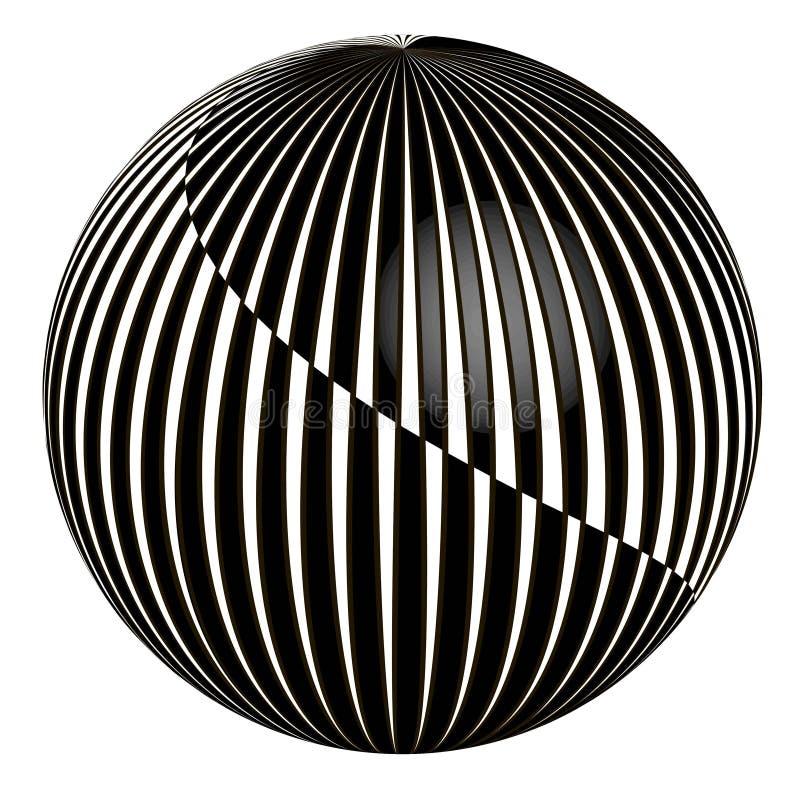 bola del extracto 3D ilustración del vector