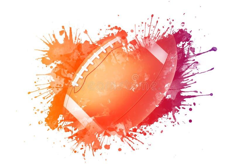 Bola del fútbol americano stock de ilustración