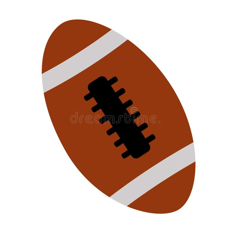 Bola del fútbol americano en el fondo blanco stock de ilustración