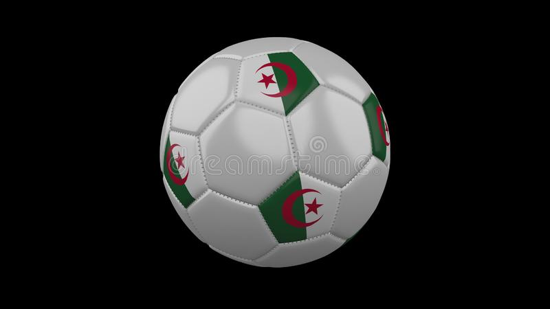 Bola del fútbol con la bandera Argelia, representación 3d libre illustration