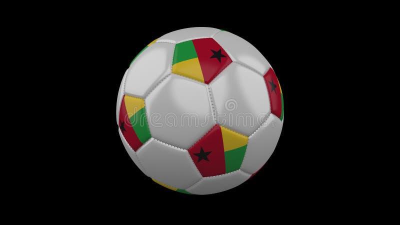Bola del fútbol con la bandera Guinea-Bissau, representación 3d stock de ilustración