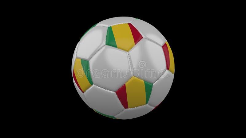 Bola del fútbol con la bandera Guinea, representación 3d ilustración del vector