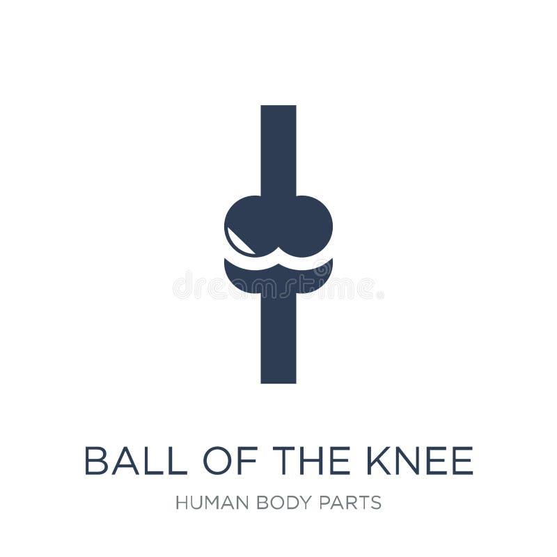 Bola del icono de la rodilla Bola plana de moda del vector del icono de la rodilla libre illustration