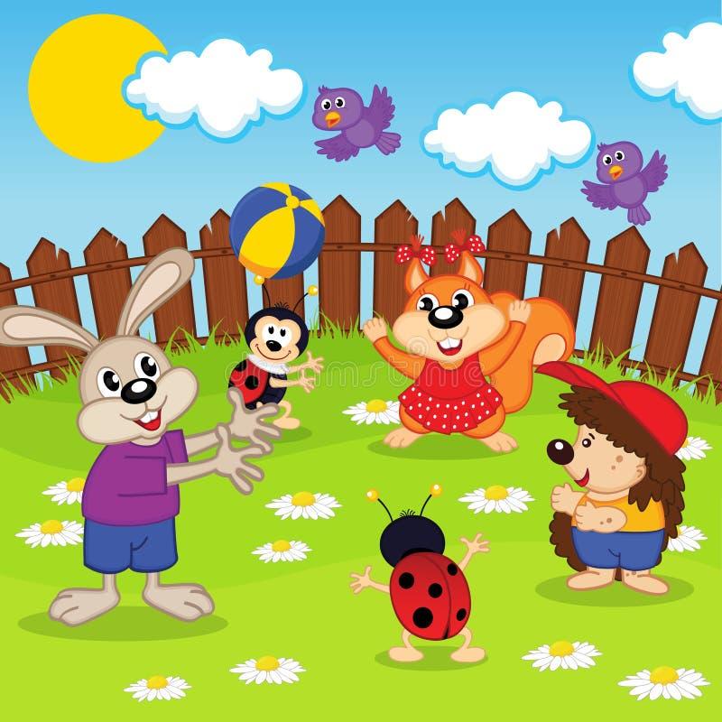 Bola del juego de los animales stock de ilustración