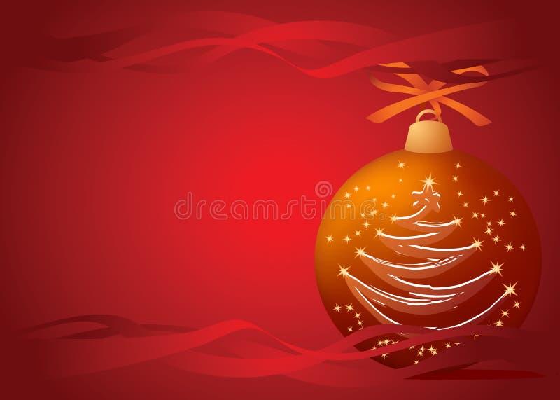 bola del Navidad-árbol stock de ilustración