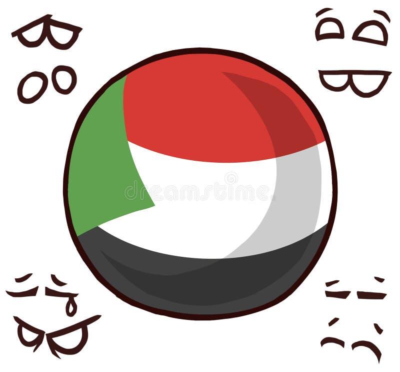 Bola del país de Sudán libre illustration