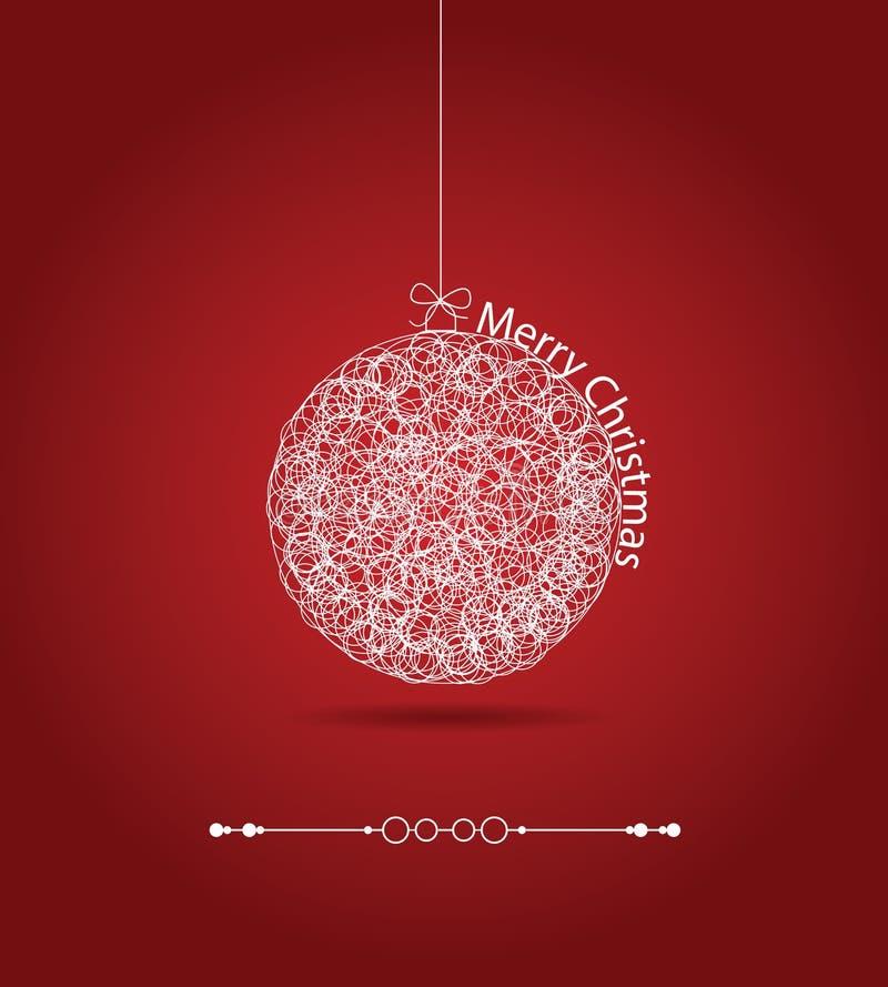 Bola del regalo de la Navidad, fondo del applique fotos de archivo