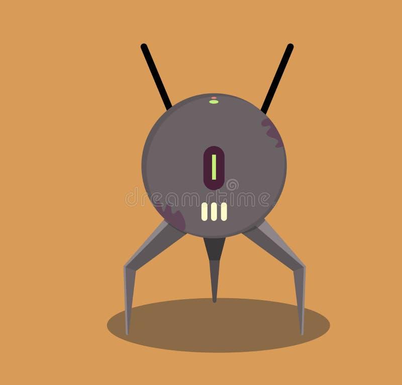 Bola del robot, tres piernas stock de ilustración