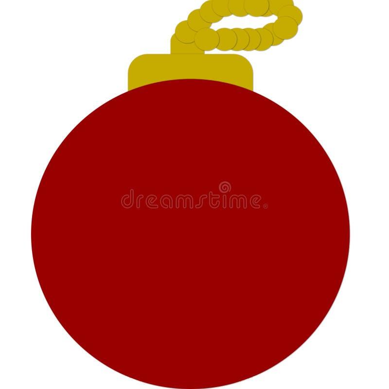 Bola del rojo de la Navidad stock de ilustración