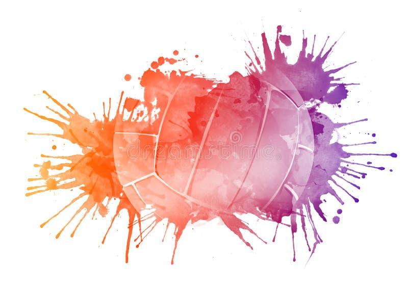 Bola del voleibol stock de ilustración