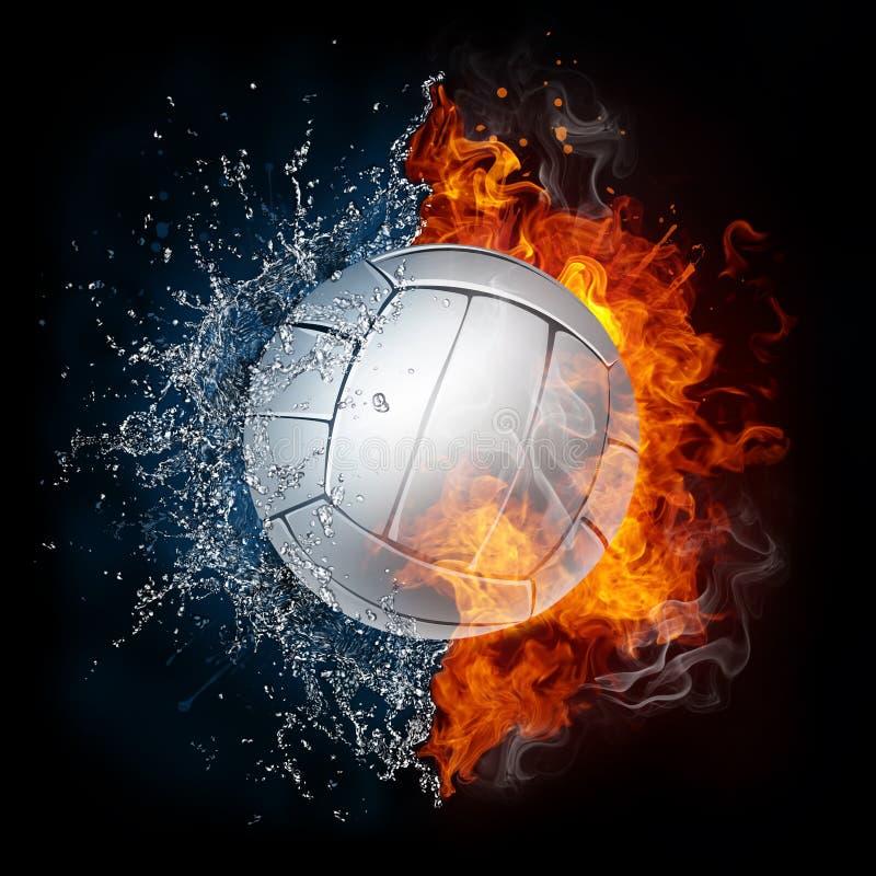 Bola del voleibol ilustración del vector