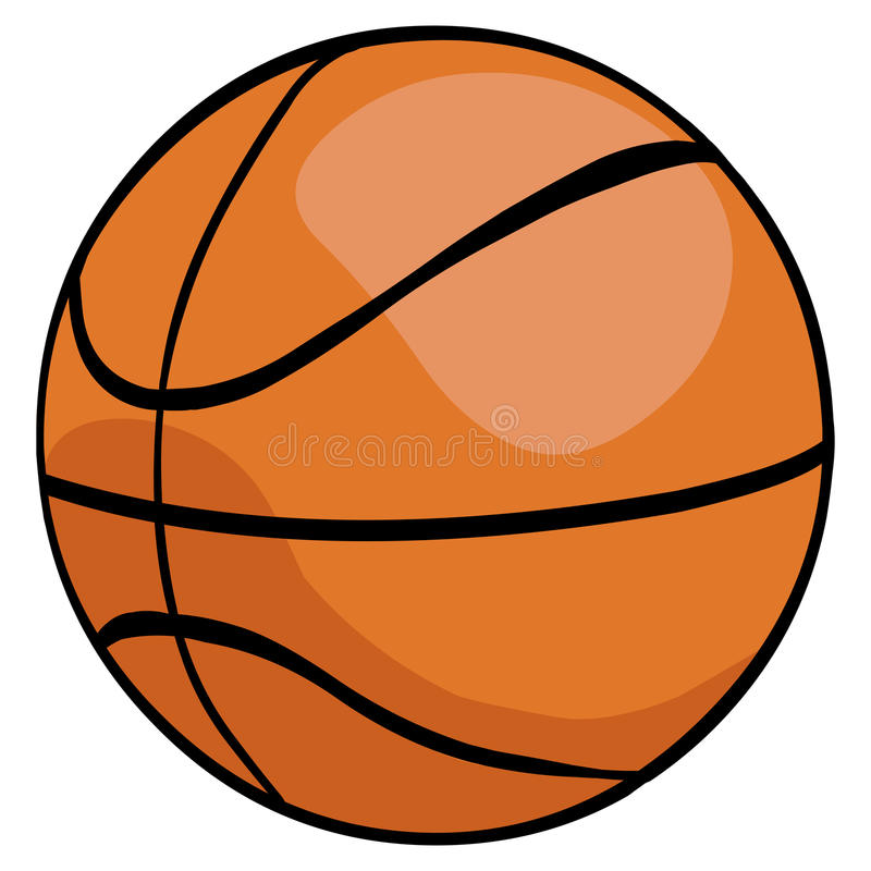 Bola do basquetebol dos desenhos animados do vetor única fotos de stock