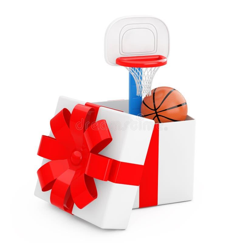 Bola do basquetebol e crianças Toy Basketball Ring com O vindo líquido ilustração do vetor