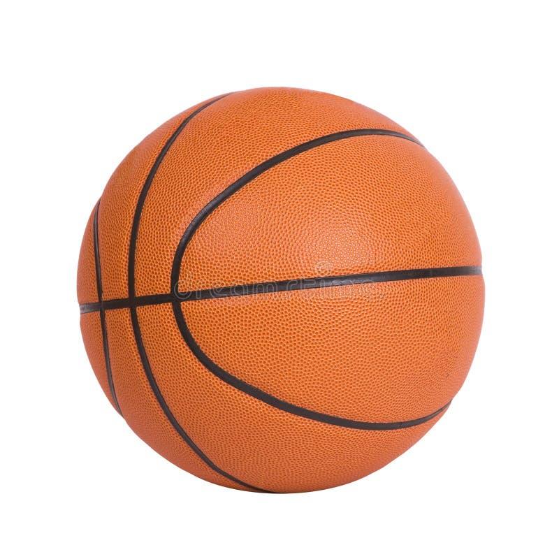 Bola do basquetebol isolada no fundo branco fotos de stock