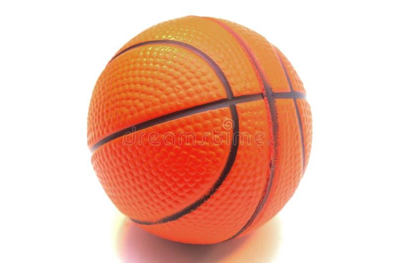 Bola do basquetebol isolada no fundo branco foto de stock