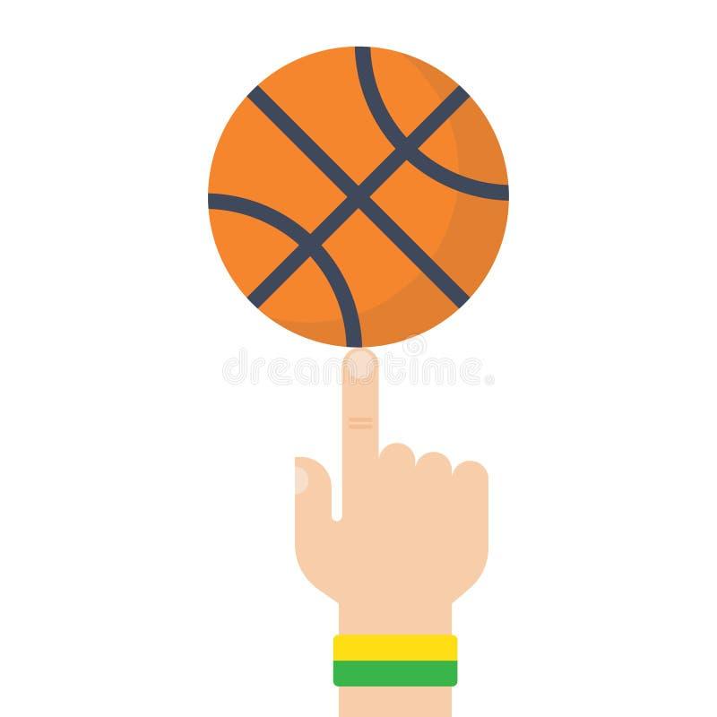Bola do basquetebol no desenho do vetor do dedo ilustração do vetor