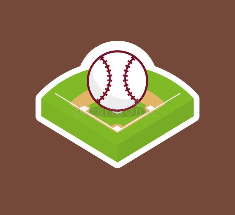 Bola do campo de basebol ilustração do vetor