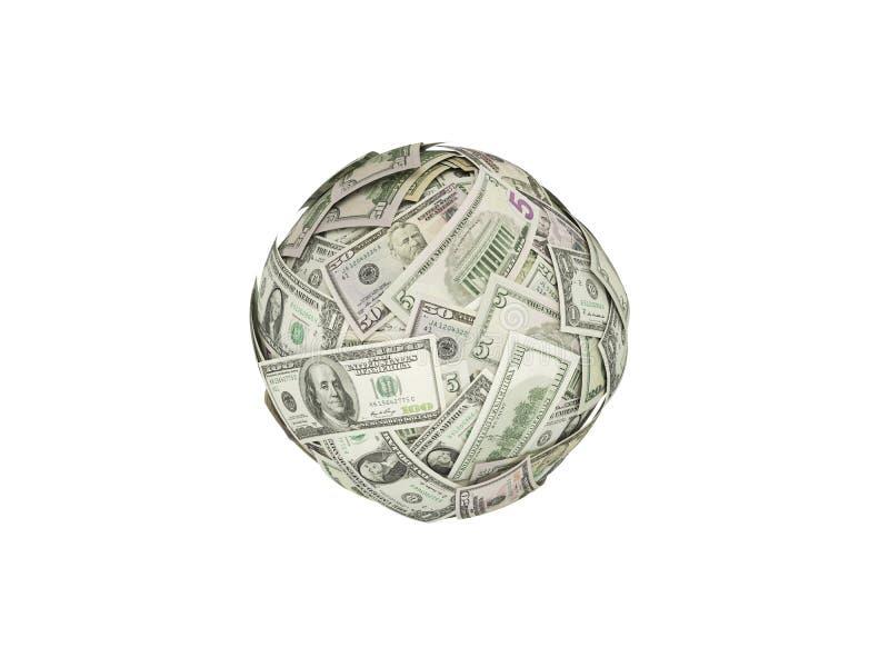 Bola do dinheiro imagem de stock
