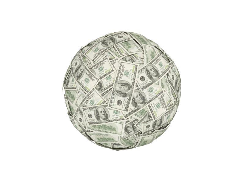 Bola do dinheiro foto de stock