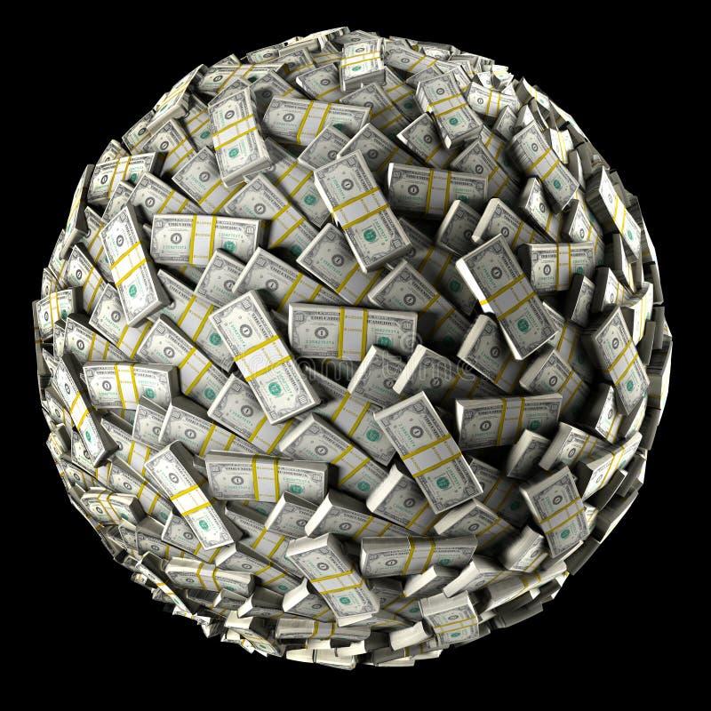 Bola do dinheiro ilustração royalty free