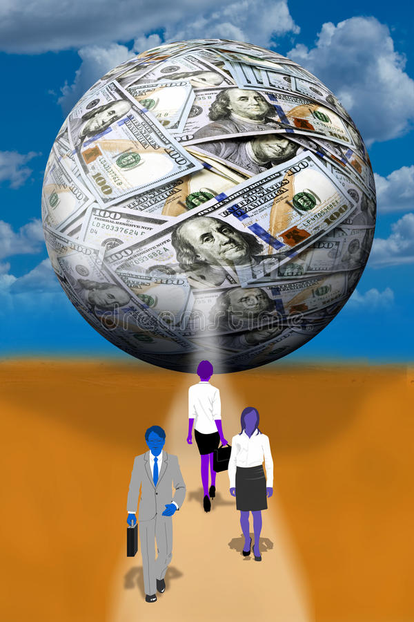 A bola do dinheiro ilustração stock