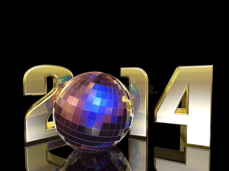 Bola do disco do ano 2014 novo ilustração stock
