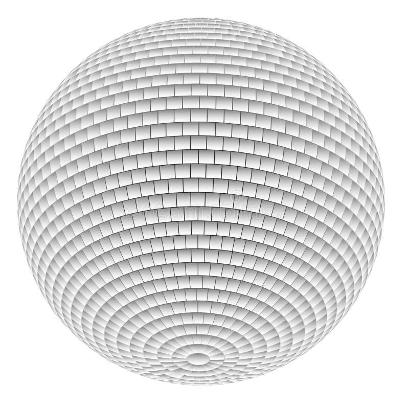 Bola do disco do espelho ilustração do vetor