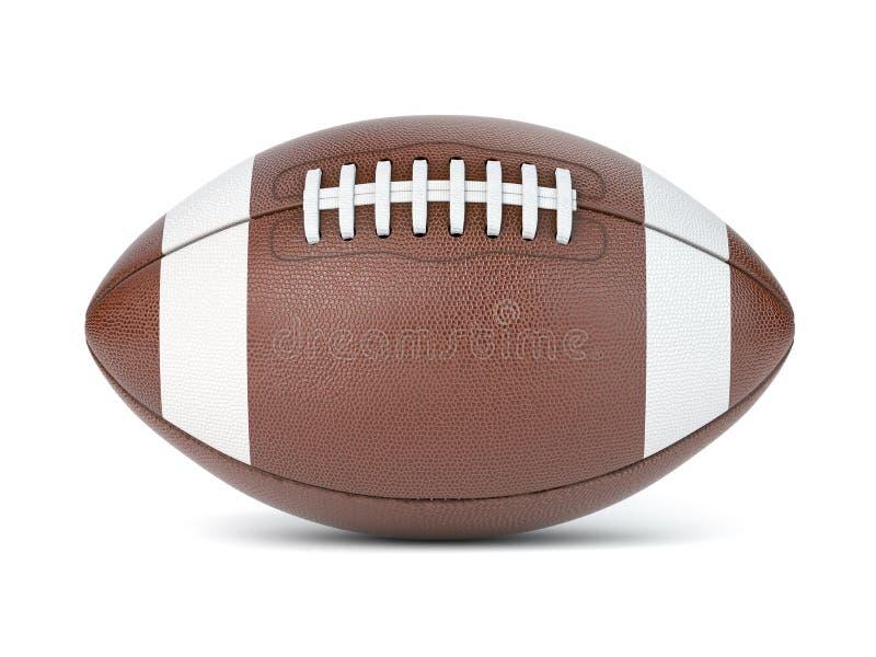Bola do futebol americano isolada no fundo branco ilustração do vetor
