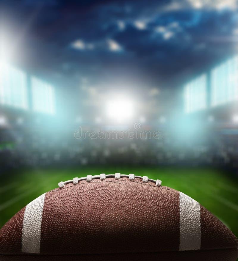 Bola do futebol americano, opinião do close-up fotos de stock royalty free