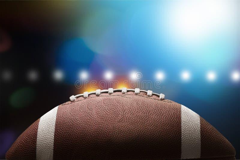 Bola do futebol americano, opinião do close-up foto de stock royalty free