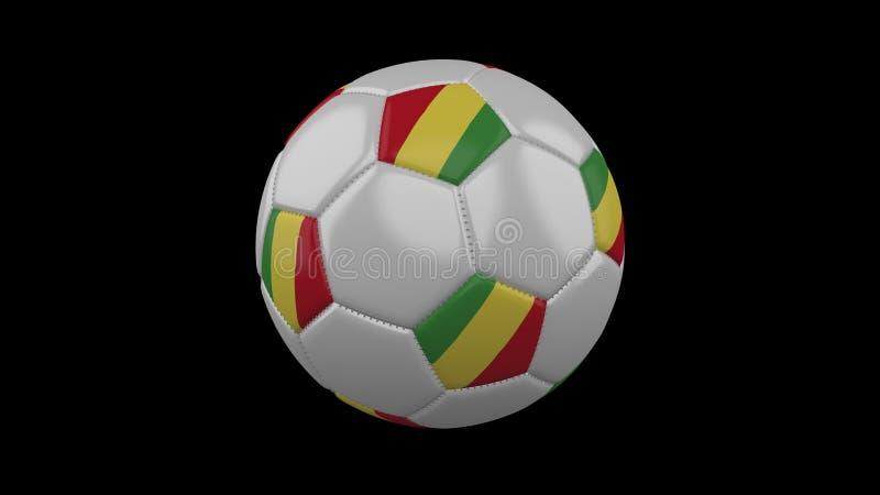 Bola do futebol com bandeira a República Democrática do Congo, rendição 3d ilustração stock
