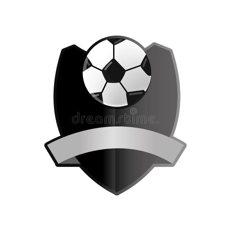 Bola do futebol do futebol ilustração stock