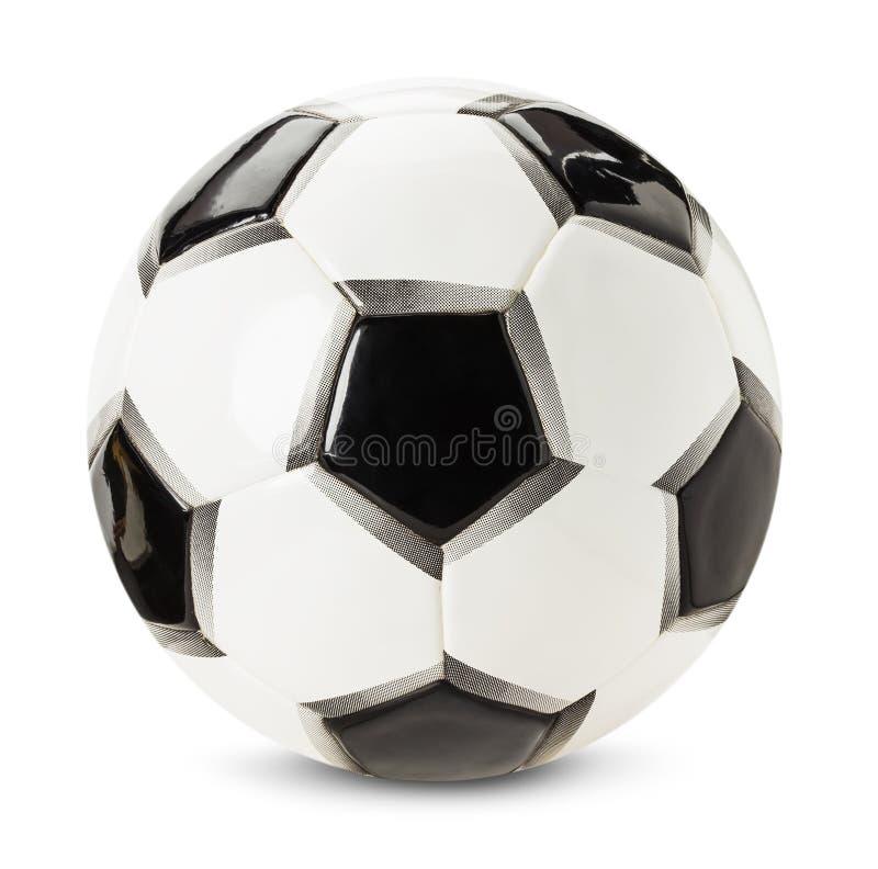 Bola do futebol isolada no fundo branco fotos de stock royalty free