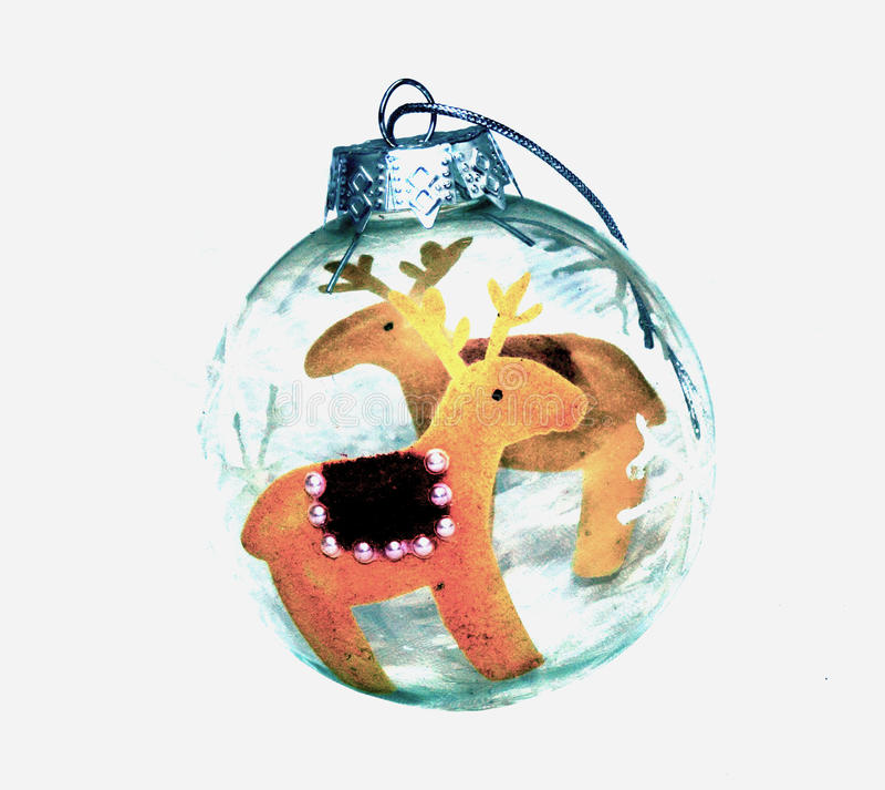 Bola do Natal da rena fotos de stock royalty free