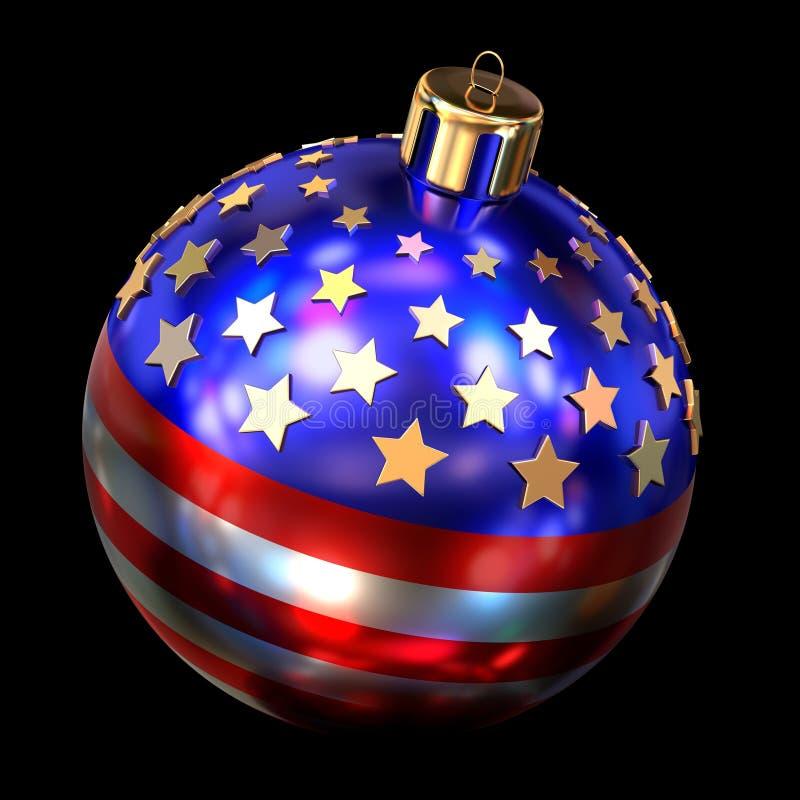 Bola do Natal dos E.U. ilustração royalty free