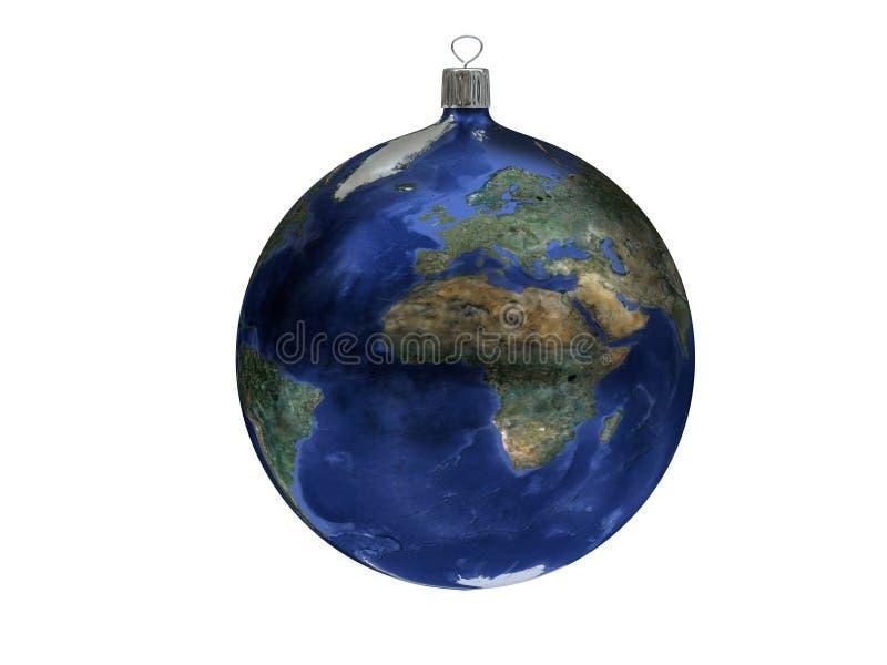 Bola do Natal - terra fotografia de stock royalty free