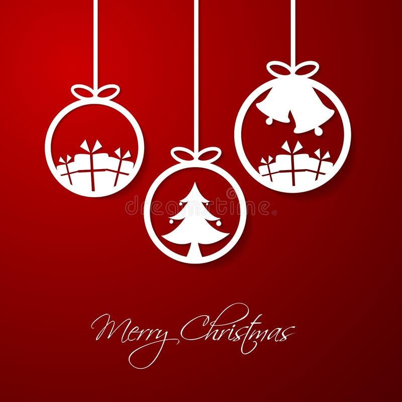 Bola do ornamento do Natal ilustração stock