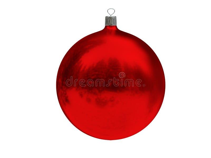 Bola do vermelho do Natal fotos de stock royalty free