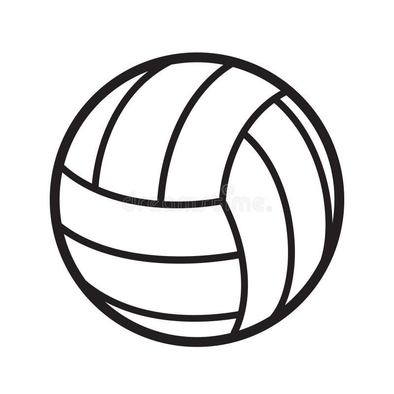 A bola do voleibol ostenta o competiam da competição do jogo da atividade, sto ilustração royalty free