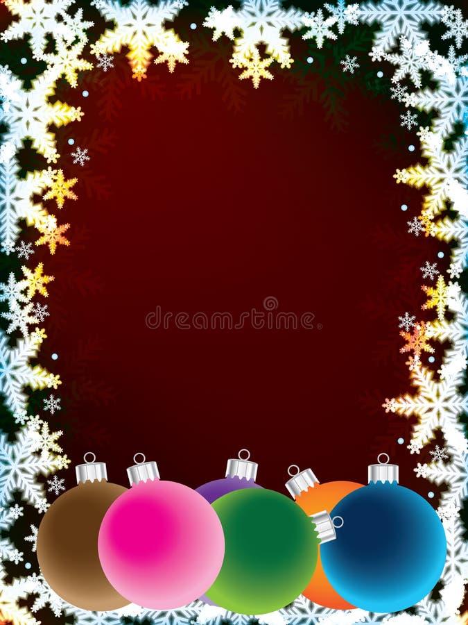 Bola efervescente do Natal do floco de neve ilustração do vetor
