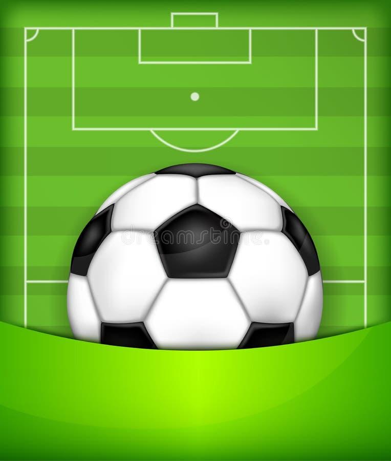 Bola en fondo verde del campo libre illustration