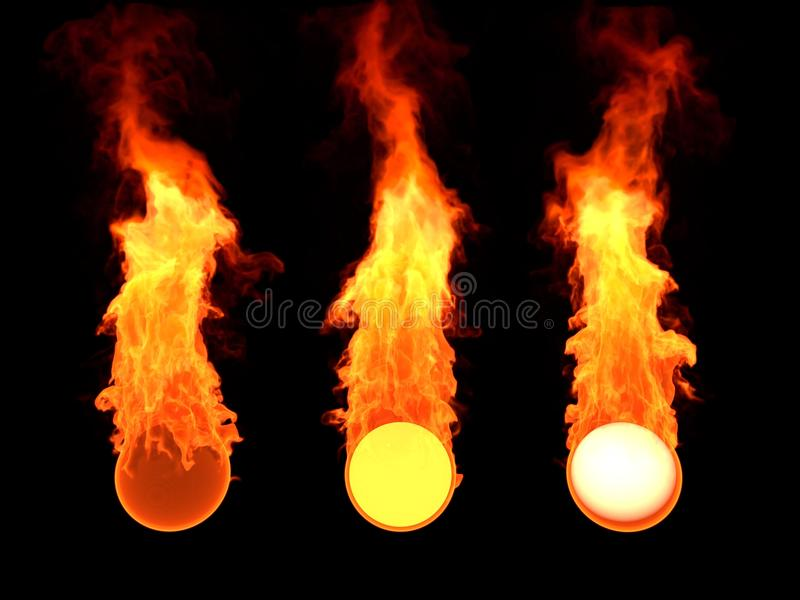 Bola en fuego fotografía de archivo