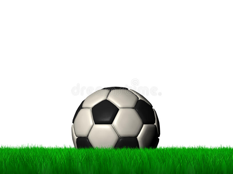 Bola en hierba verde ilustración del vector
