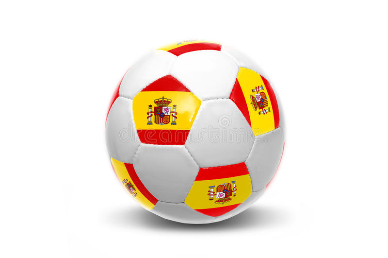 Bola española de la bandera imagen de archivo