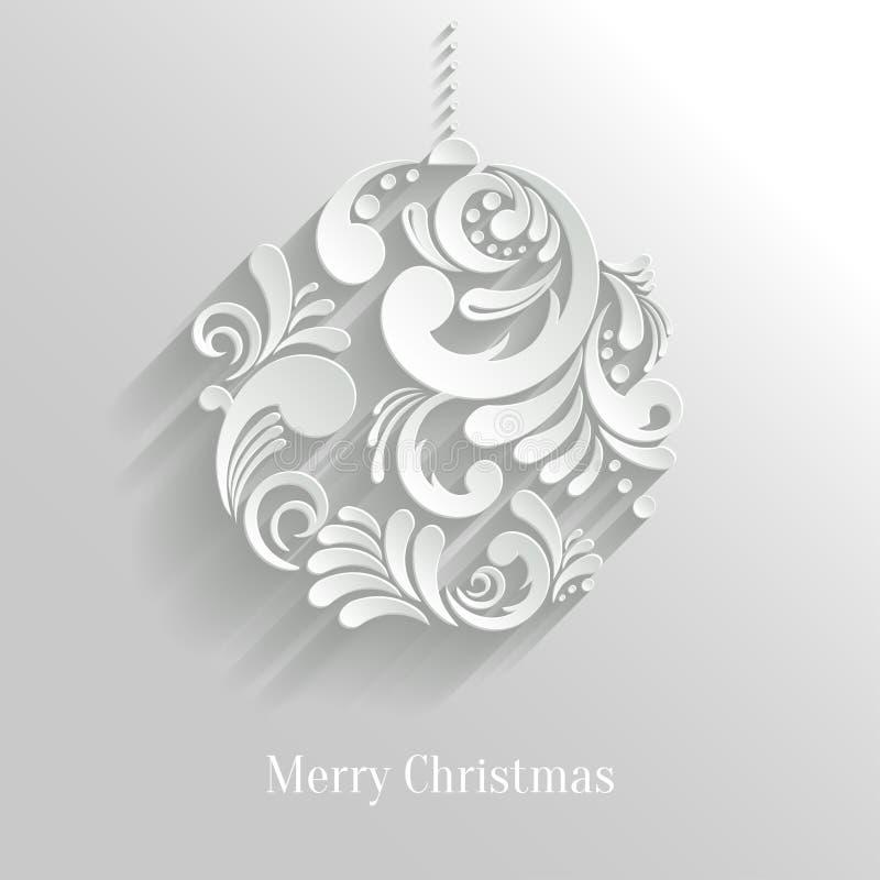 Bola floral abstracta de la Navidad stock de ilustración