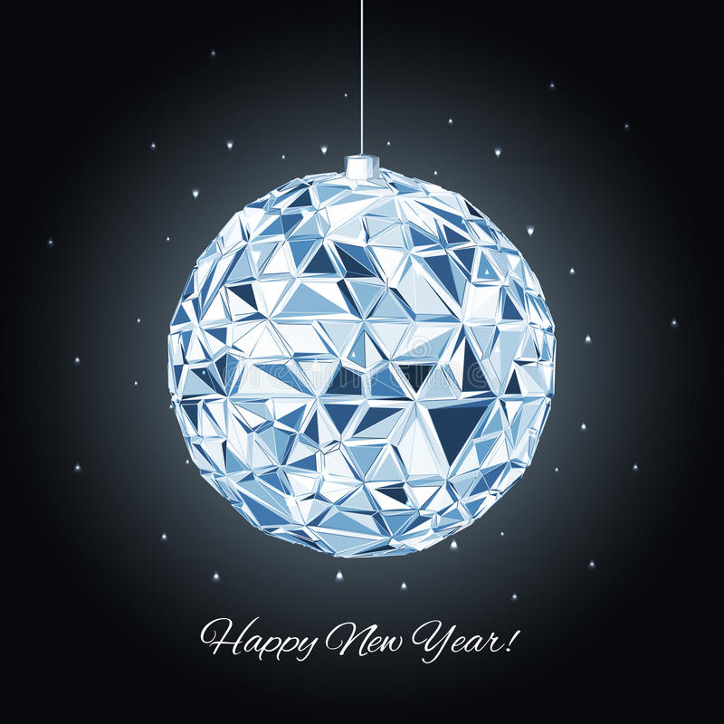 Bola geométrica do Natal Fundo dos feriados ilustração royalty free